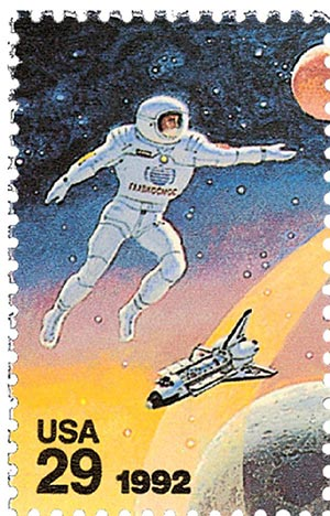 1992 29c Space Accomplishments: Soviet Cosmonaut