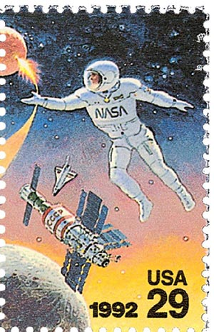 1992 29c Space Accomplishments: US Astronaut