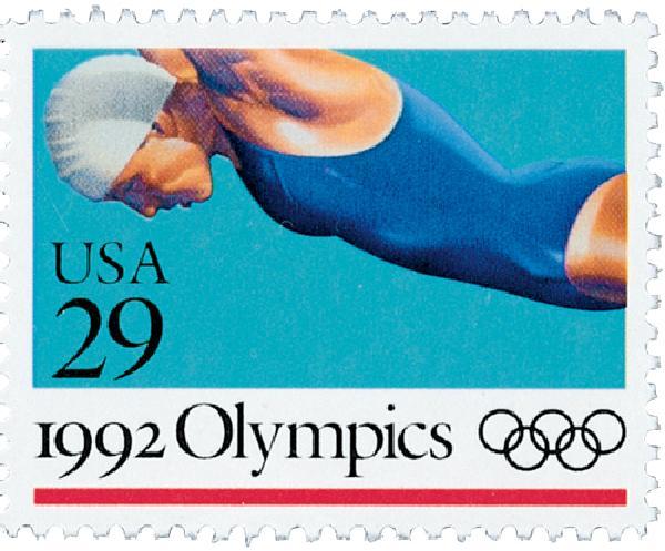 1992 29c Swimming