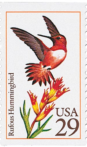 1992 29c Hummingbirds: Rufous
