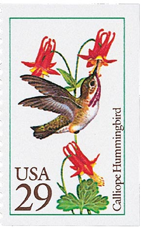 1992 29c Hummingbirds: Calliope
