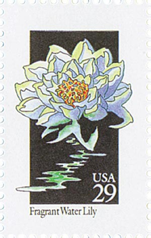 1992 29c Wildflowers: Fragrant Water Lily