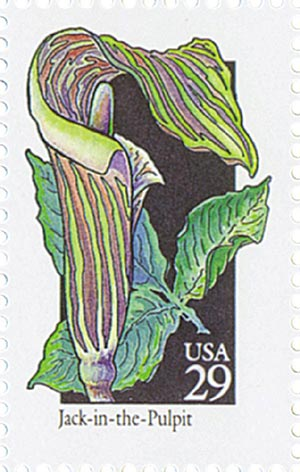 1992 29c Wildflowers: Jack-in-the-Pulpit