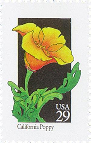 1992 29c Wildflowers: California Poppy