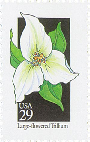 1992 29c Wildflowers: Large-flowered Trillium
