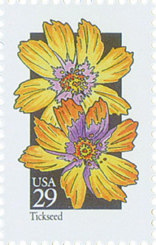 1992 29c Wildflowers: Tickseed
