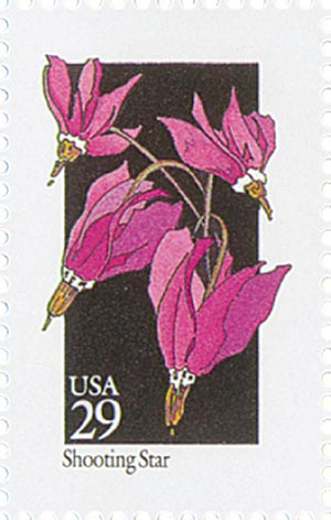 1992 29c Wildflowers: Shooting Star