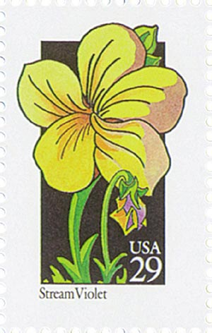 1992 29c Wildflowers: Stream Violet
