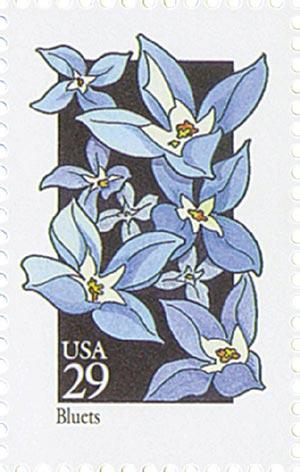 1992 29c Wildflowers: Bluets