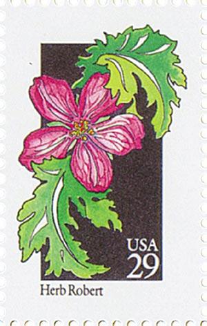 1992 29c Wildflowers: Herb Robert