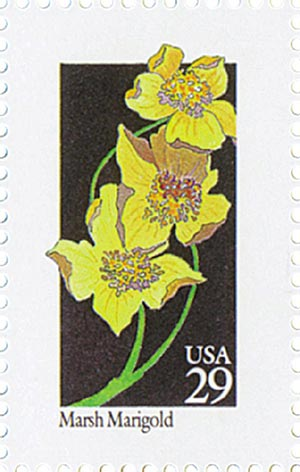 1992 29c Wildflowers: Marsh Marigold