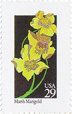 1992 29c Wildflowers: Marsh Marigold