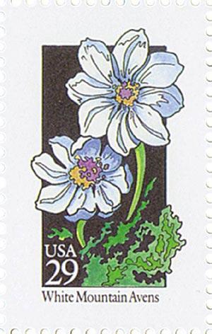 1992 29c Wildflowers: White Mountain Avens