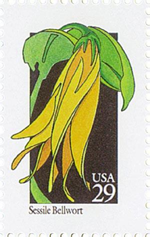 1992 29c Wildflowers: Sessile Bellwort