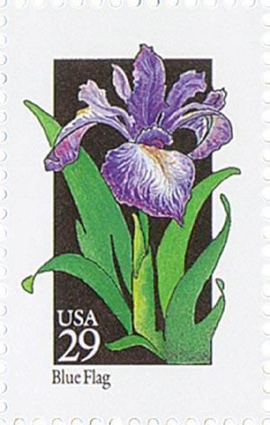 1992 29c Wildflowers: Blue Flag