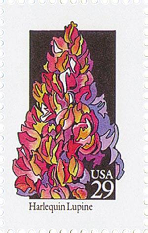 1992 29c Wildflowers: Harlequin Lupine