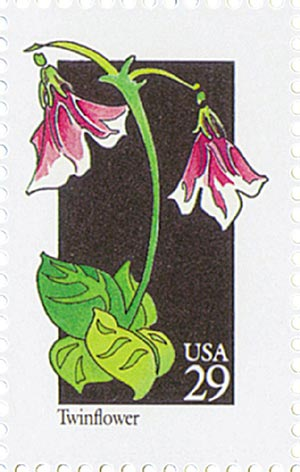 1992 29c Wildflowers: Twinflower