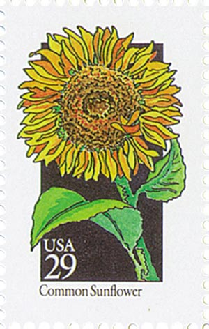 1992 29c Wildflowers: Common Sunflower