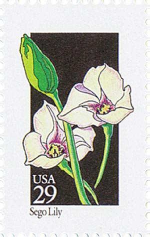 1992 29c Wildflowers: Sego Lily