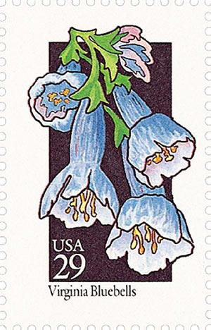1992 29c Wildflowers: Virginia Bluebells