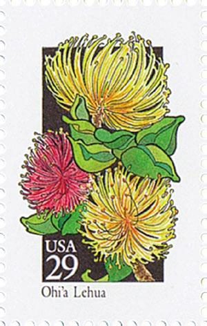 1992 29c Wildflowers: Ohia Lehua