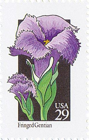 1992 29c Wildflowers: Fringed Gentian