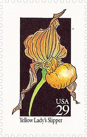 1992 29c Wildflowers: Yellow Ladys Slipper