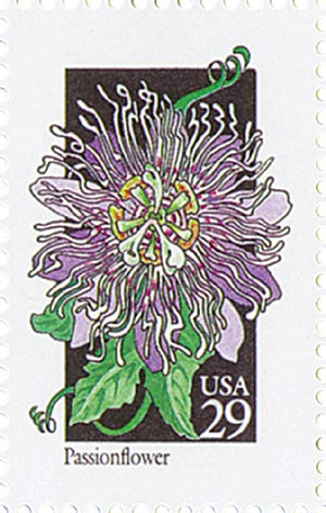 1992 29c Wildflowers: Passionflower