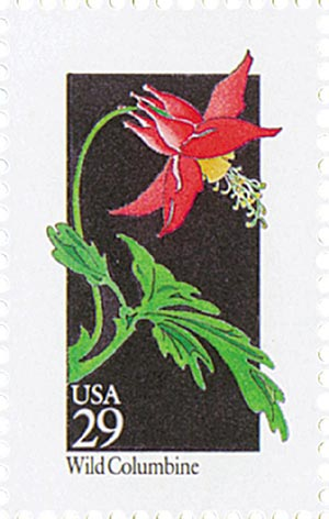 1992 29c Wildflowers: Wild Columbine