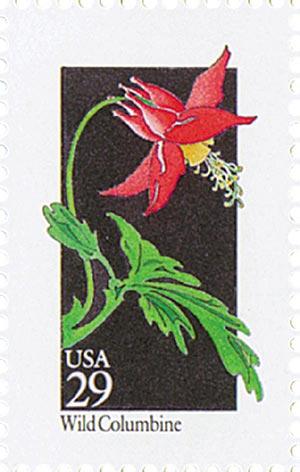 1992 29c Wildflowers: Wild Columbine