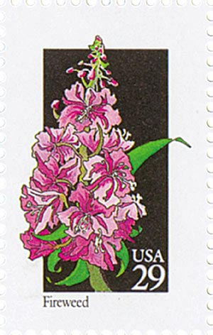 1992 29c Wildflowers: Fireweed