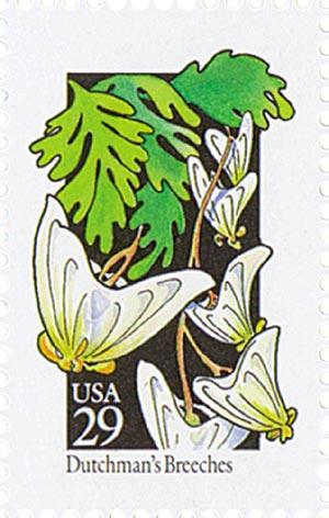 1992 29c Wildflowers: Dutchmans Breeches
