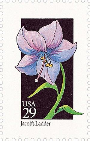 1992 29c Wildflowers: Jacobs Ladder