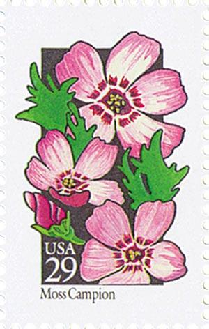 1992 29c Wildflowers: Moss Campion