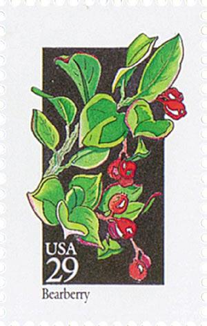 1992 29c Wildflowers: Bearberry