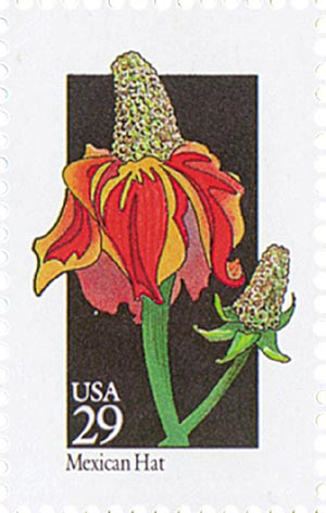 1992 29c Wildflowers: Mexican Hat