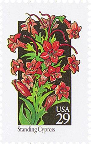 1992 29c Wildflowers: Standing Cypress