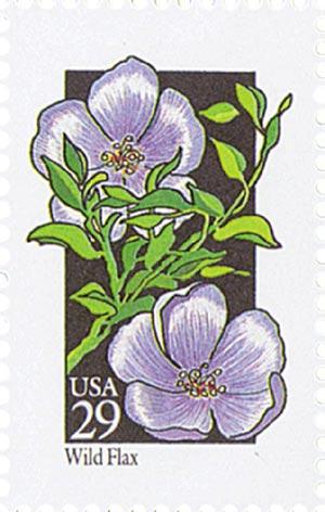1992 29c Wildflowers: Wild Flax