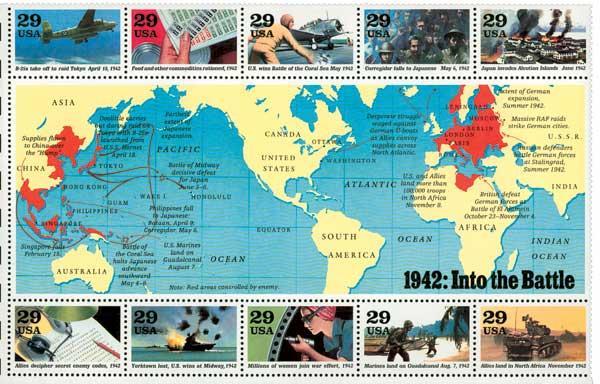 1992 29c World War II