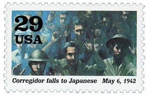 1992 29c World War II: Corregidor falls to Japanese