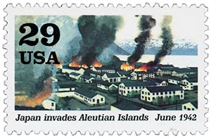 1992 29c World War II: Japan Invades Aleutian Islands