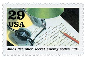 1992 29c World War II: Allies Decipher Secret Enemy Codes