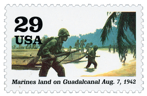 1992 29c World War II: Marines Land on Guadalcanal
