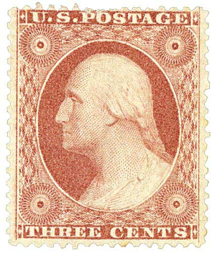 1857-61 3c Washington, Perf 15