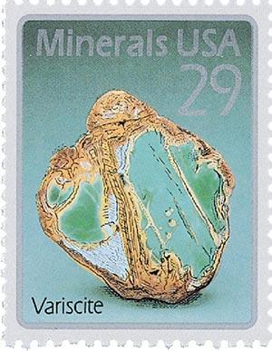 1992 29c Minerals: Variscite