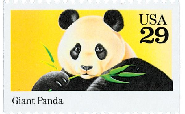 1992 29c Wild Animals: Giant Panda
