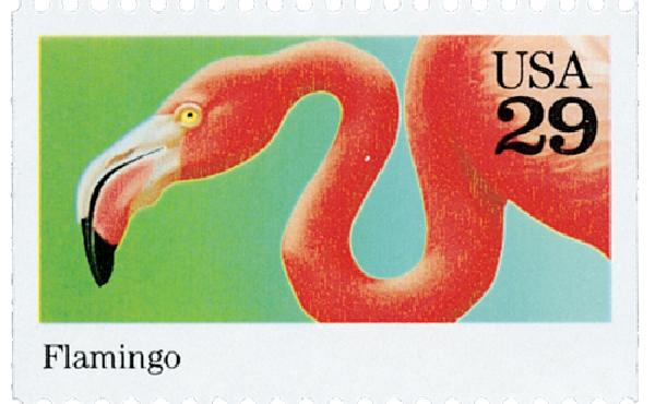 1992 29c Wild Animals: Flamingo