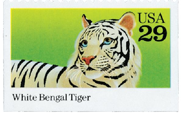 1992 29c Wild Animals: White Bengal Tiger