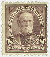 1895 8c Sherman, double line watermark