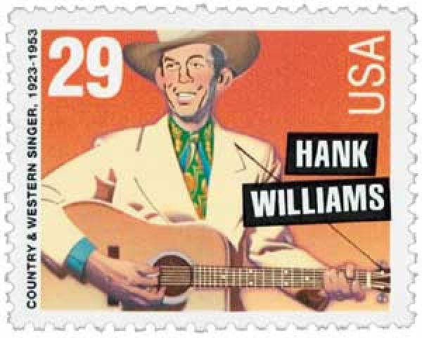 1993 29c Legends of American Music: Hank Williams